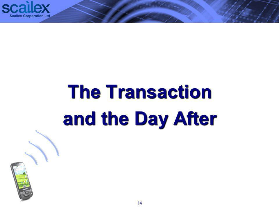 The Transaction and the Day After 14