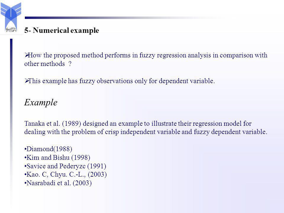 How the proposed method performs in fuzzy regression analysis in comparison with other methods .