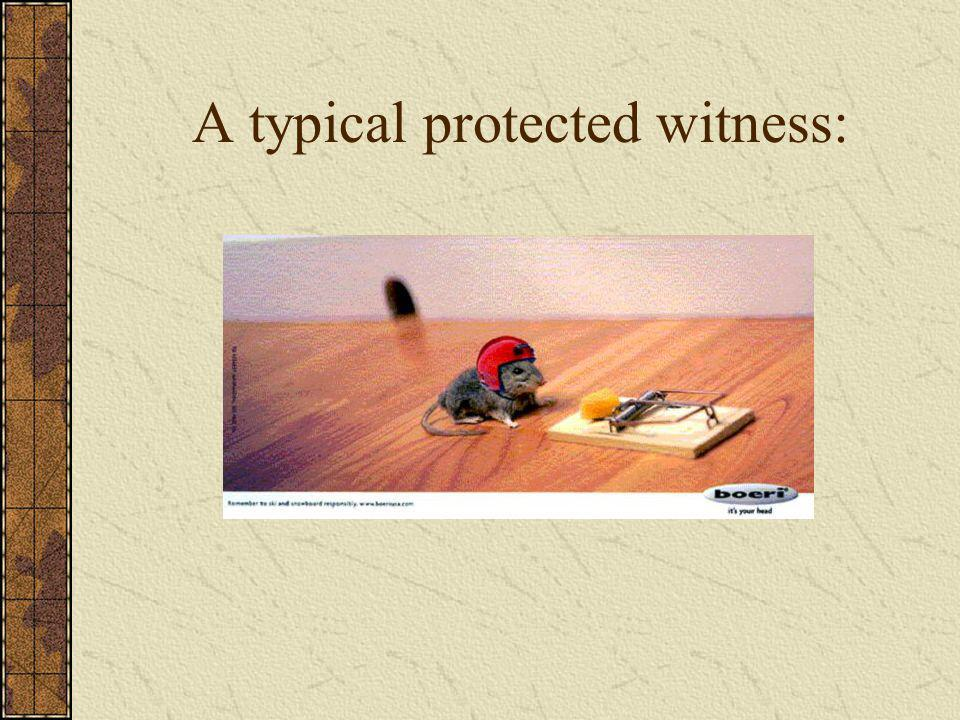 A typical protected witness:
