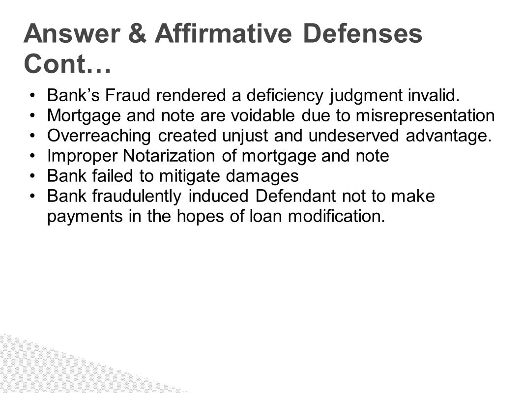 Banks Fraud rendered a deficiency judgment invalid. Mortgage and note are voidable due to misrepresentation Overreaching created unjust and undeserved