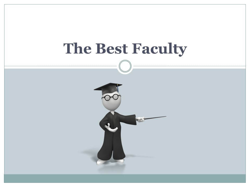 The Best Faculty