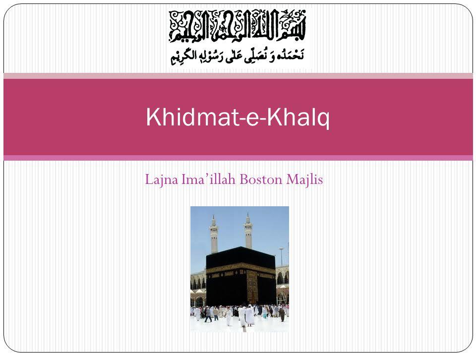 Lajna Imaillah Boston Majlis Khidmat-e-Khalq