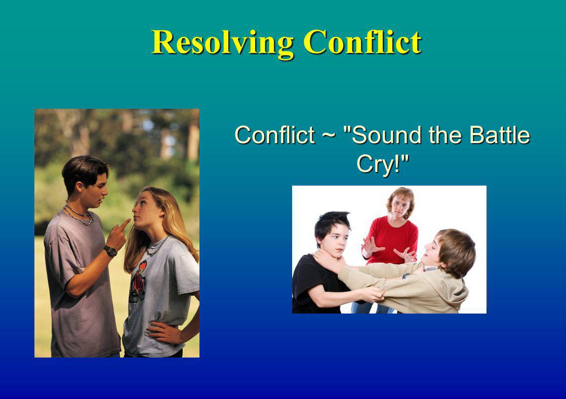Resolving Conflict Conflict ~