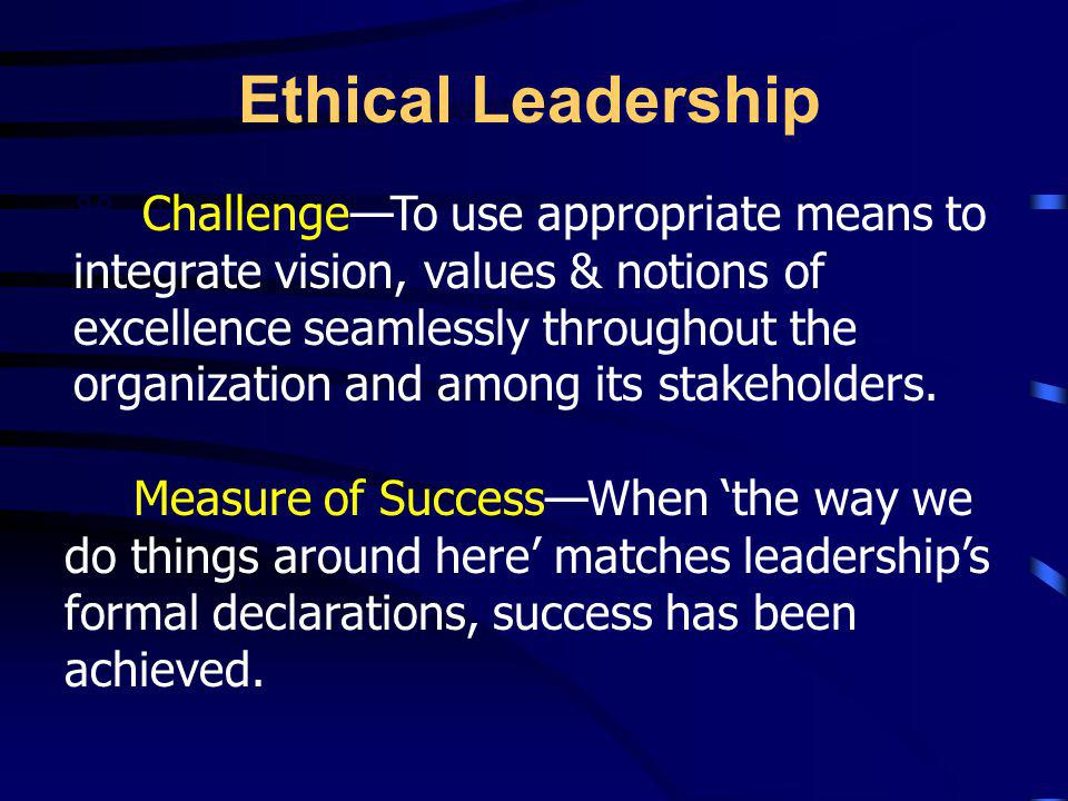 Ethical Leadership Intervention and Impact on Essential Human Capacities and Attributes –Coercion –Manipulation –Persuasion –Facilitation –Inspiration