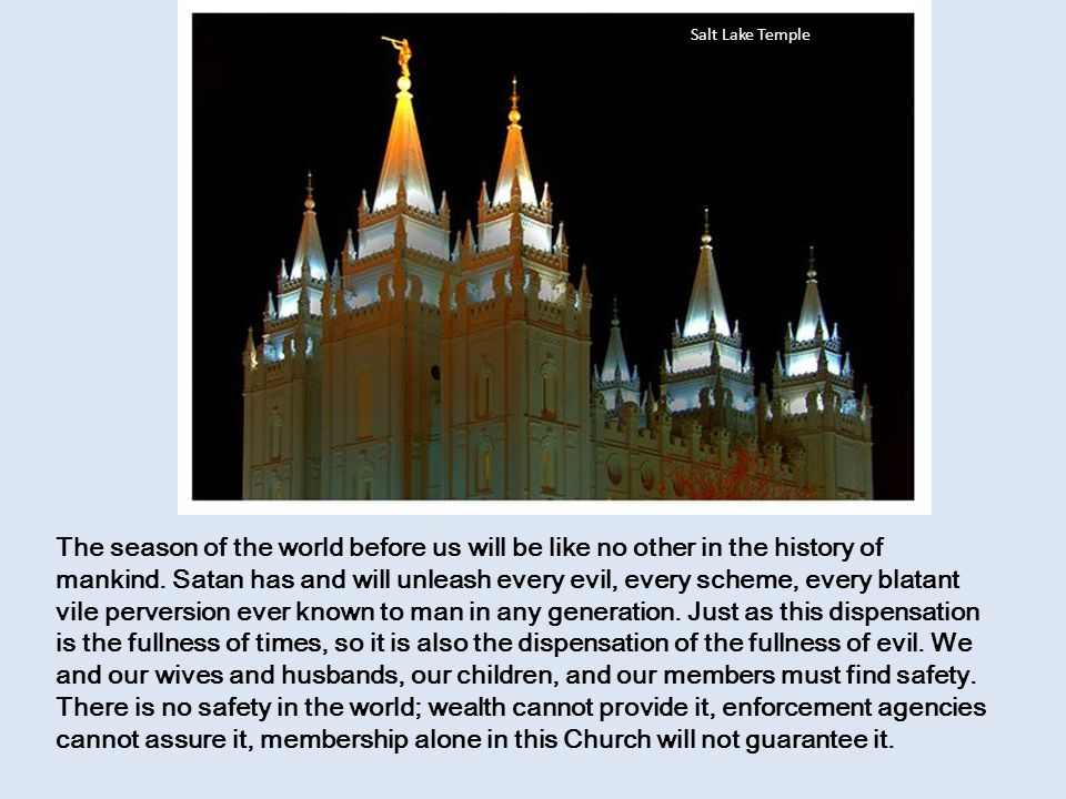 A Great Source of Light and Direction in a Darkened and Scary World Thoughts and Comments by Elder Vaughn J Featherstone Washington DC Temple