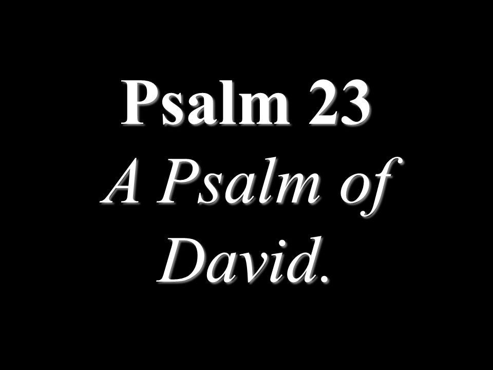 Psalm 23 A Psalm of David.
