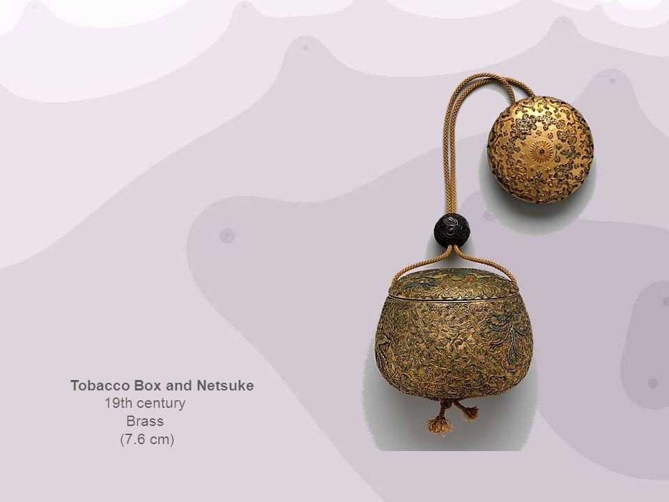 Tobacco Box and Netsuke 19th century Brass (7.6 cm)