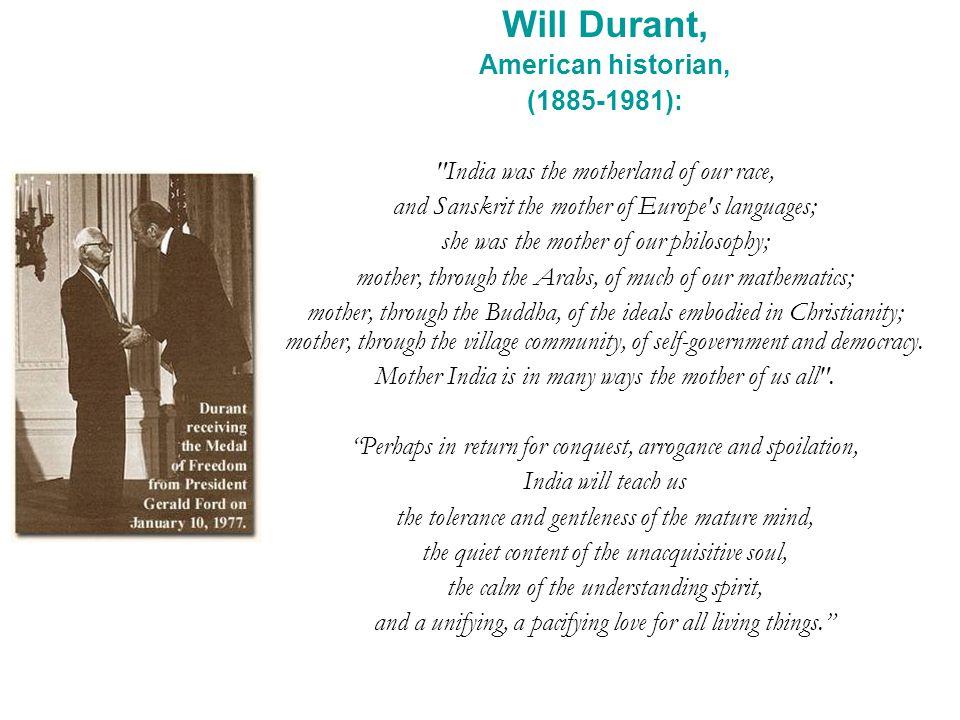 Will Durant, American historian, (1885-1981):