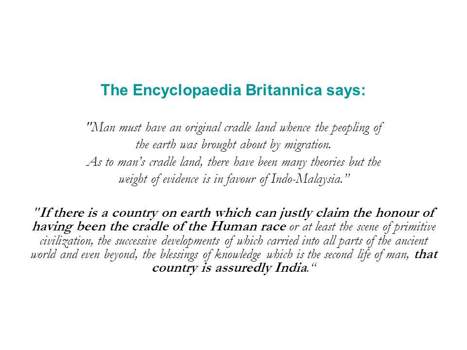 The Encyclopaedia Britannica says: