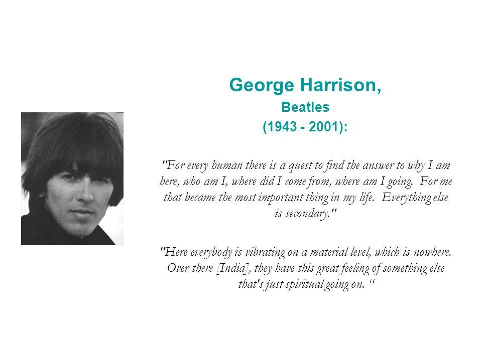 George Harrison, Beatles (1943 - 2001):