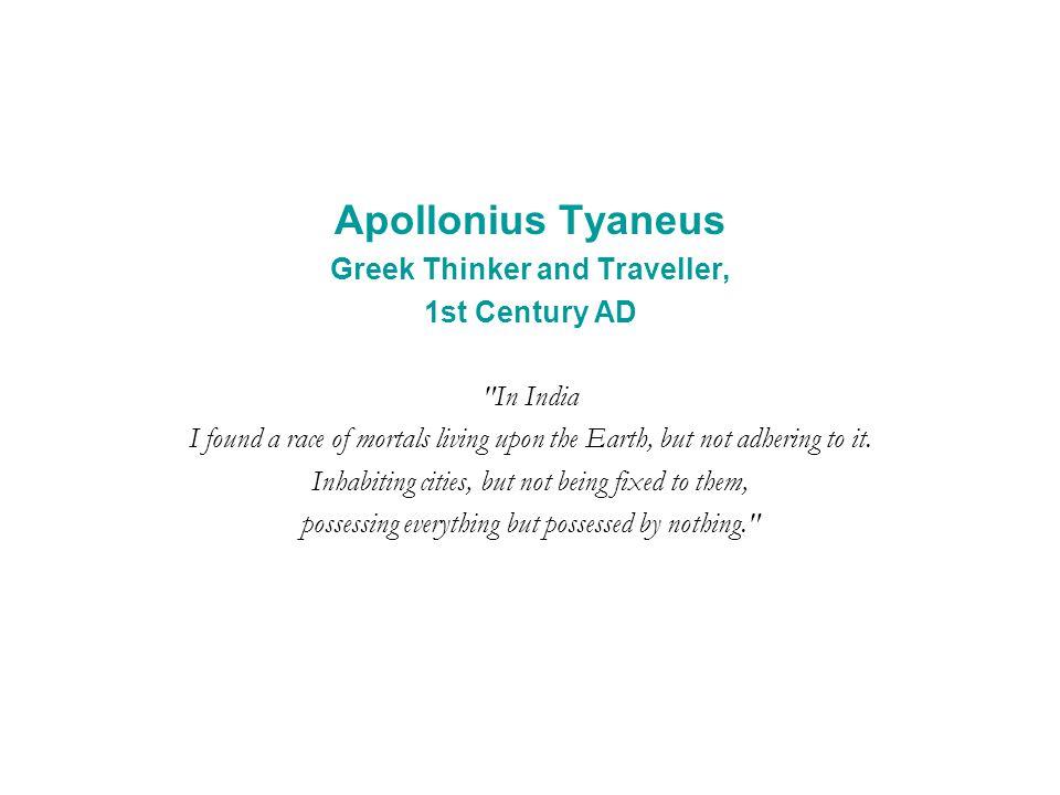 Apollonius Tyaneus Greek Thinker and Traveller, 1st Century AD