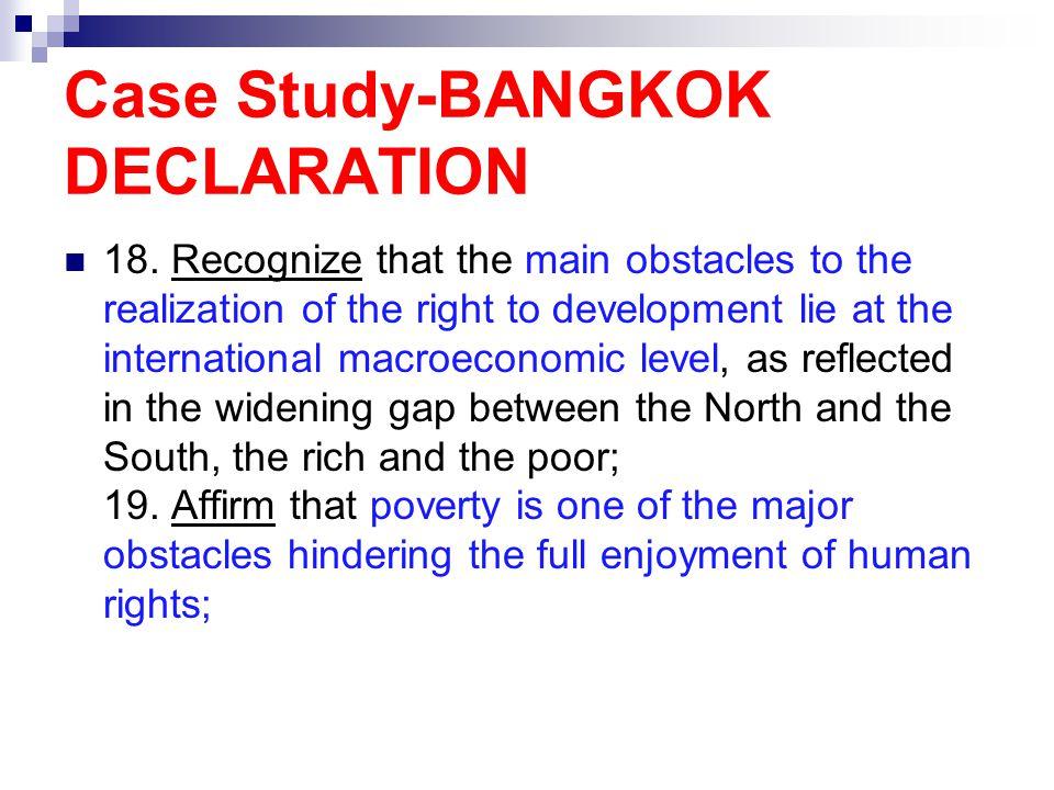 Case Study-BANGKOK DECLARATION 18.