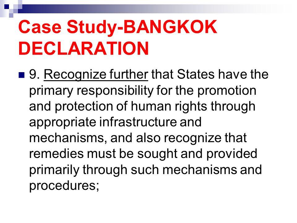 Case Study-BANGKOK DECLARATION 9.