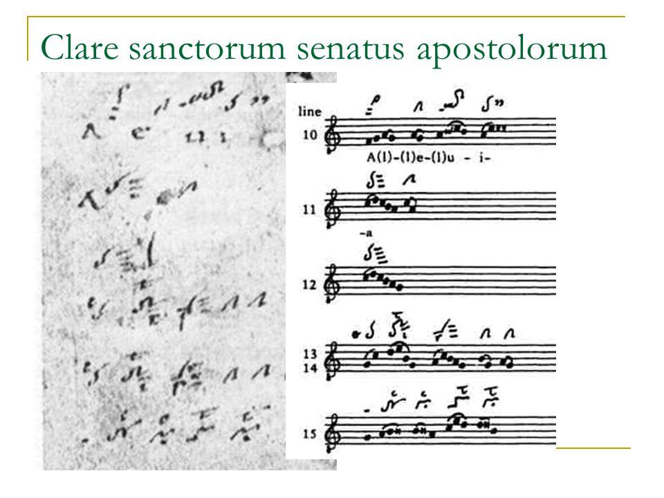 Clare sanctorum senatus apostolorum