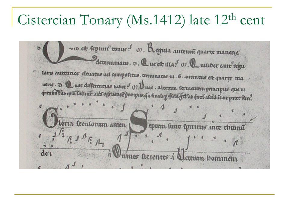 Cistercian Tonary (Ms.1412) late 12 th cent