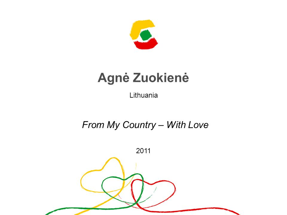 Agnė Zuokienė Lithuania From My Country – With Love 2011