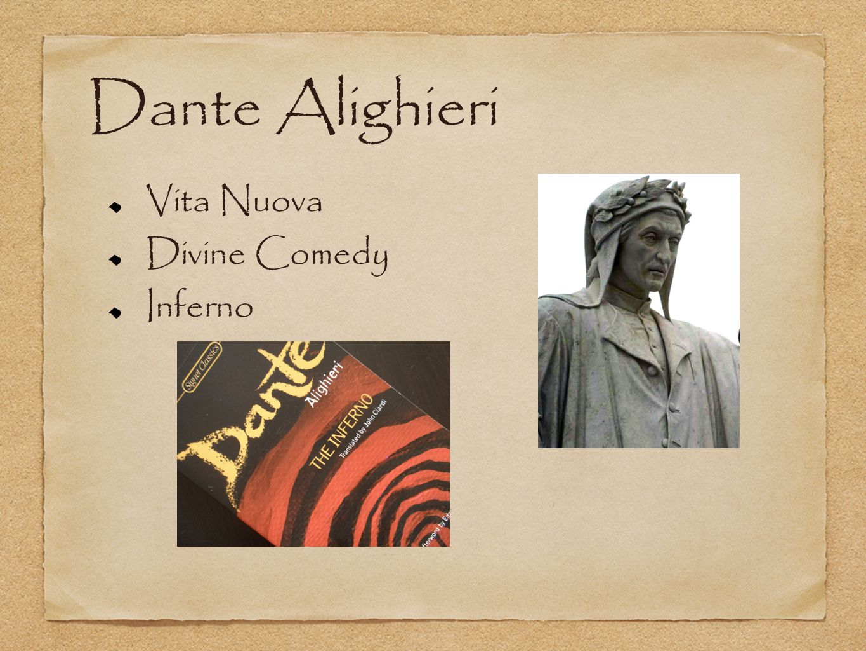 Dante Alighieri Vita Nuova Divine Comedy Inferno