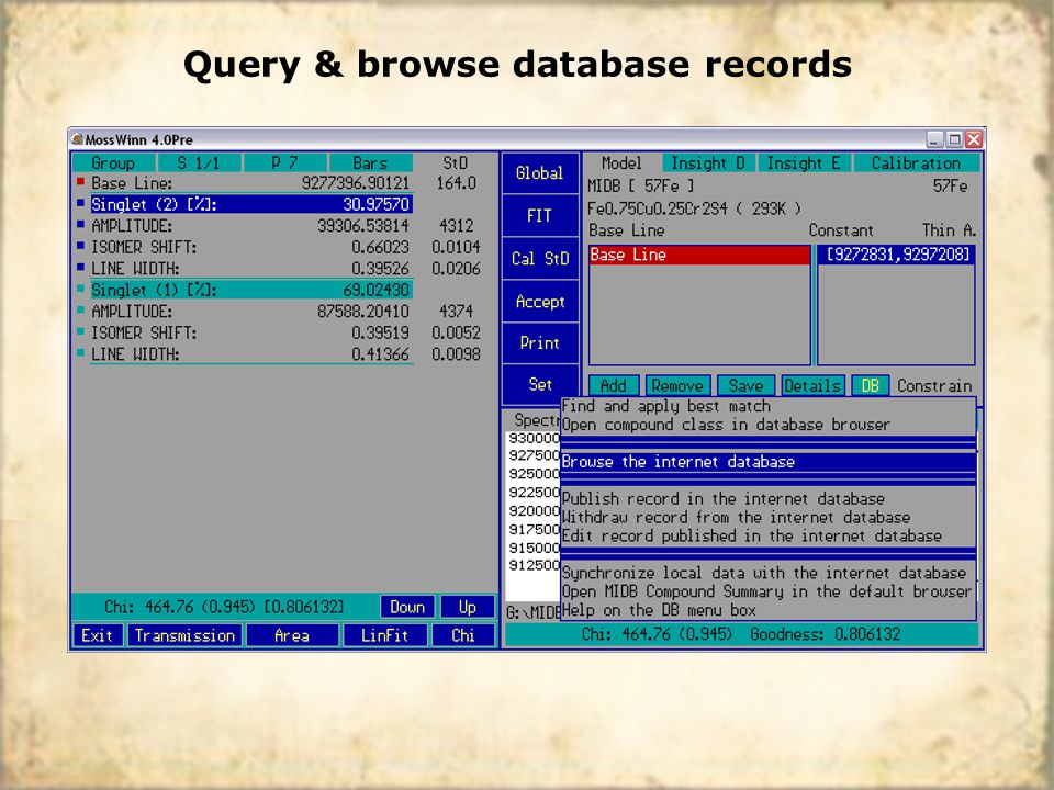 Query & browse database records