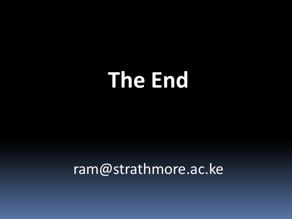 The End ram@strathmore.ac.ke