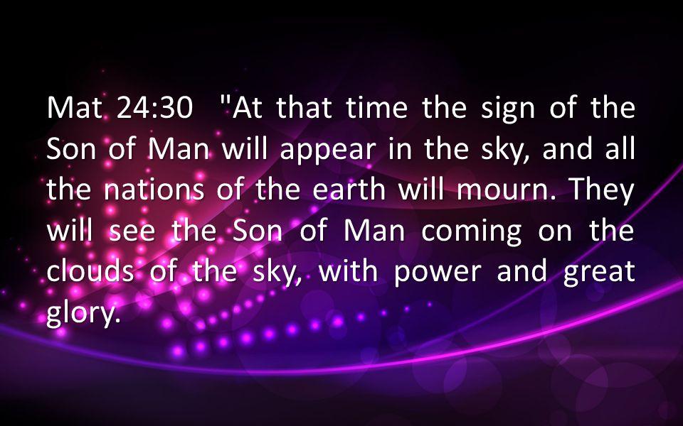 Mat 24:30