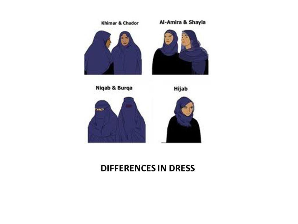 DIFFERENCES IN DRESS