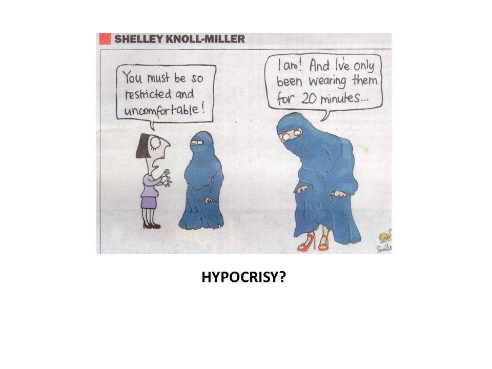 HYPOCRISY?