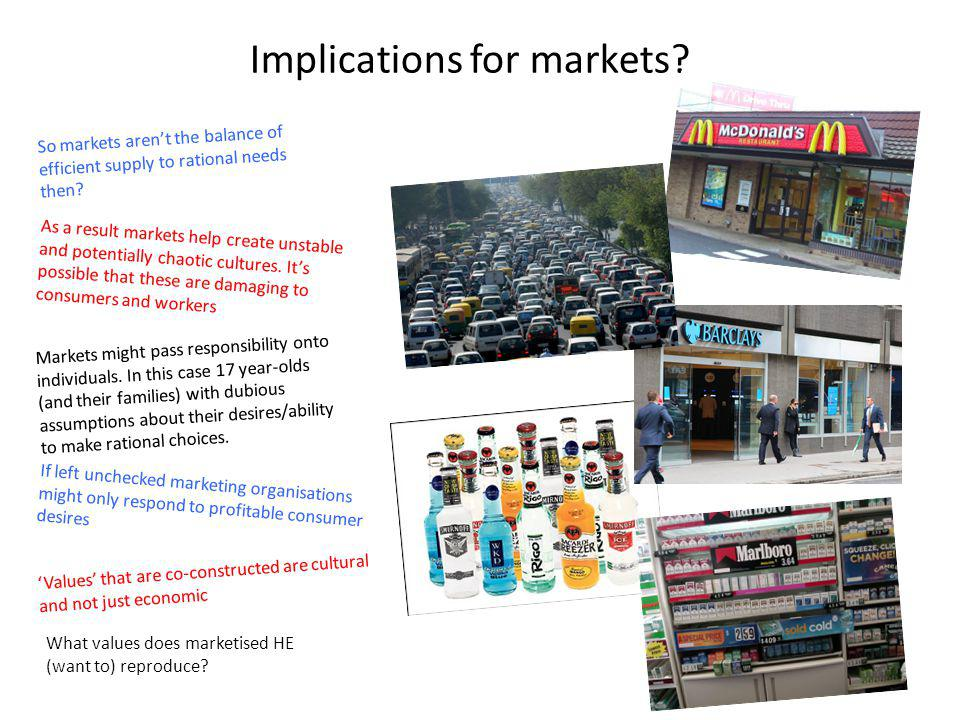 Implications for markets.So markets arent the balance of efficient supply to rational needs then.