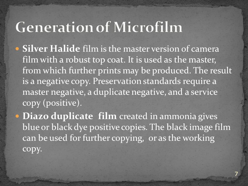 Silver Halide film is the master version of camera film with a robust top coat.