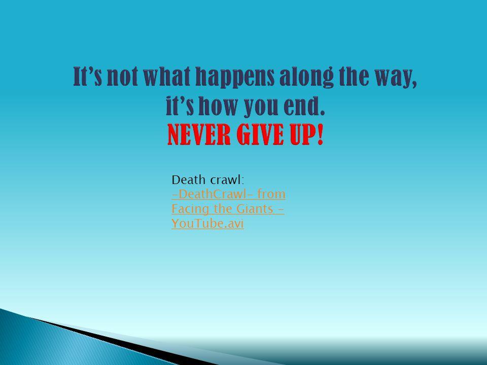Death crawl: -DeathCrawl- from Facing the Giants - YouTube.avi