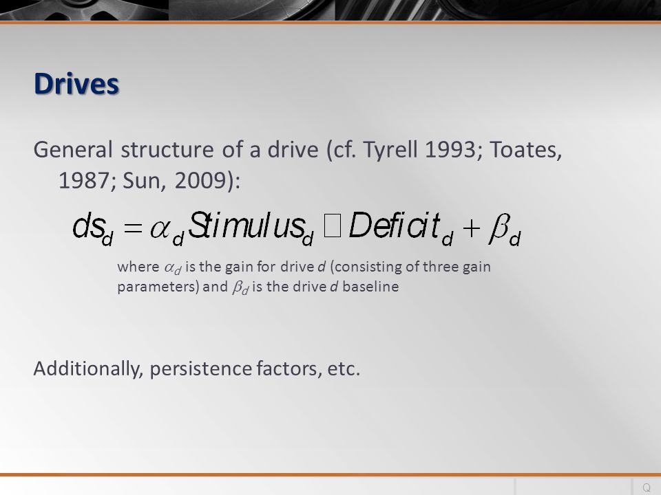 Drives General structure of a drive (cf.