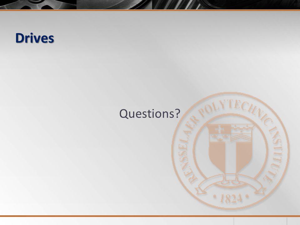 Drives Questions?