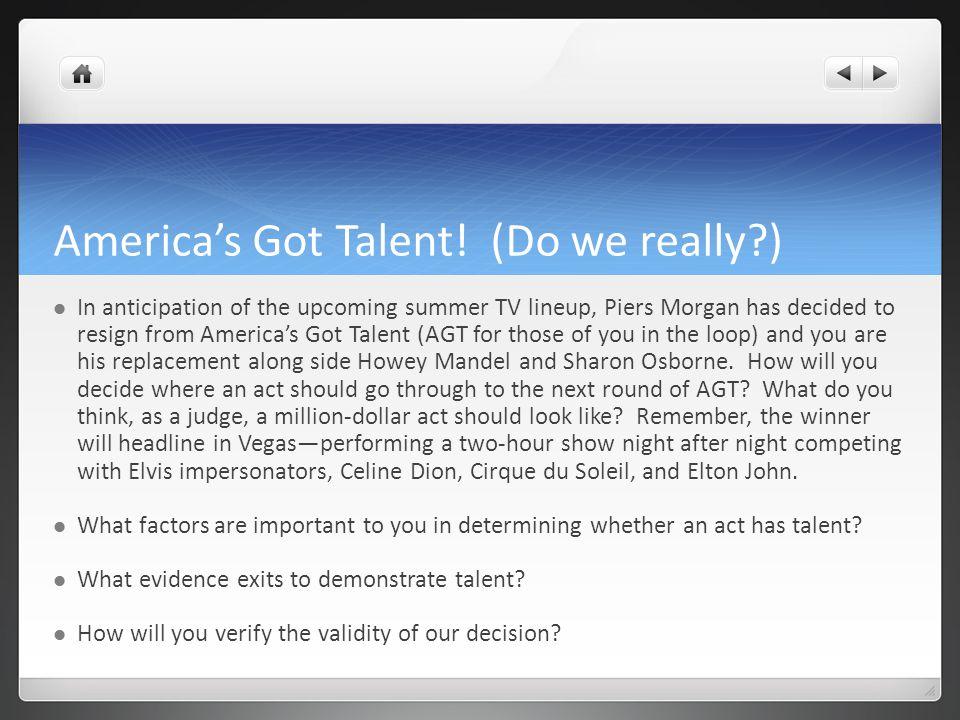 Americas Got Talent.