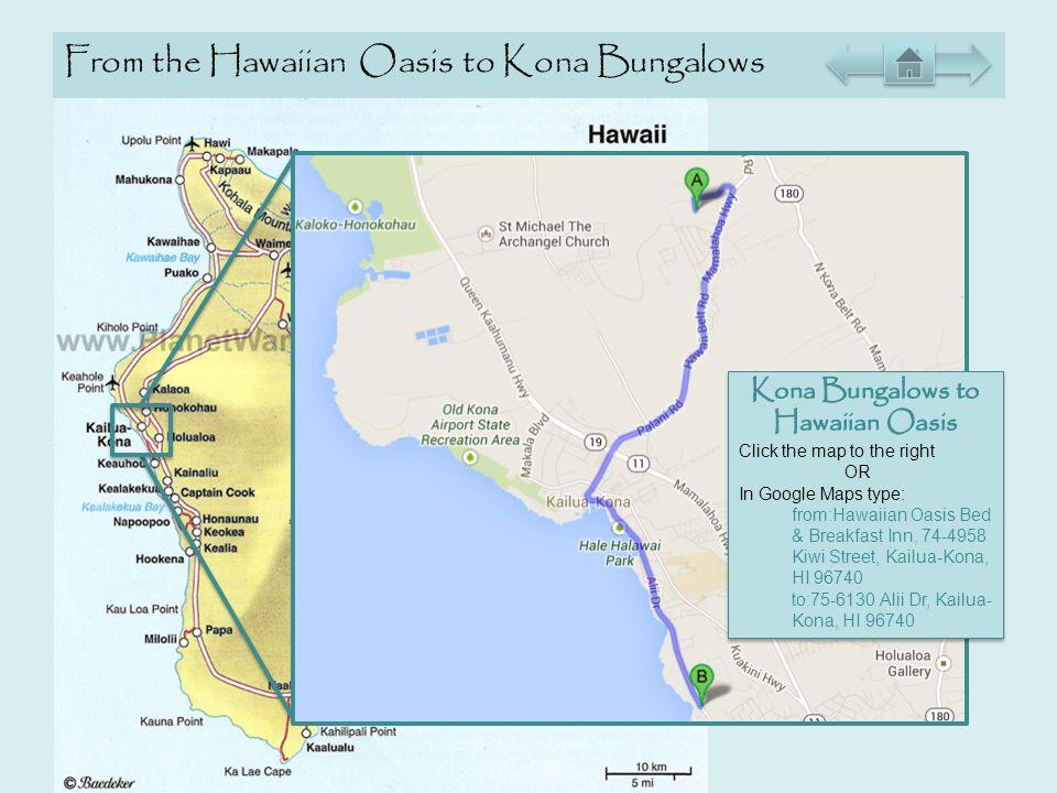From the Hawaiian Oasis to Kona Bungalows Hawaiian Oasis