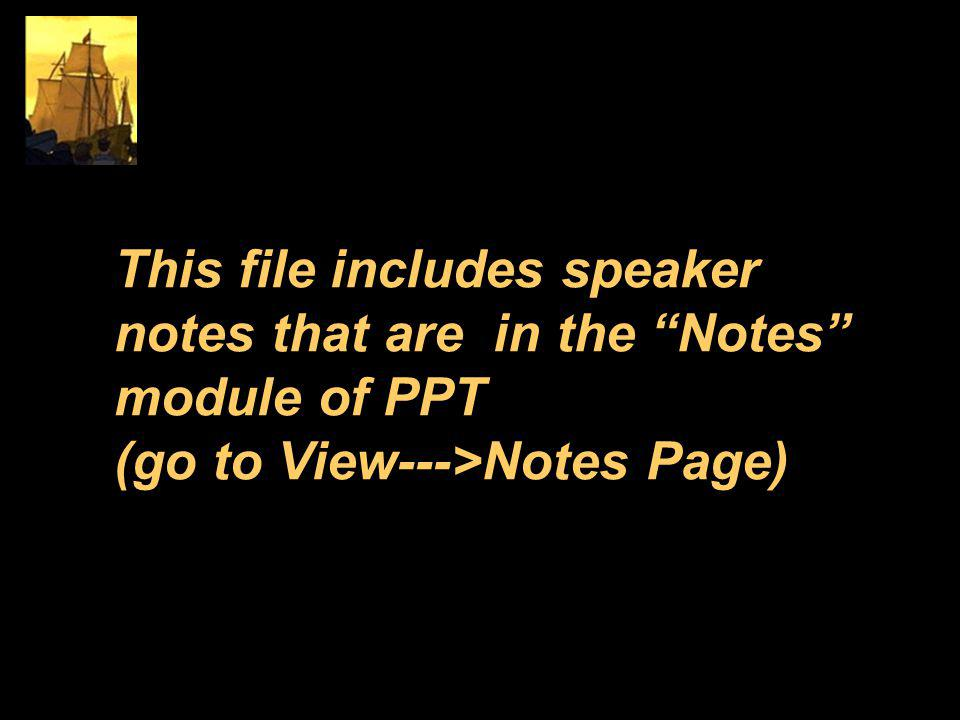 This file includes speaker notes that are in the Notes module of PPT (go to View--->Notes Page)
