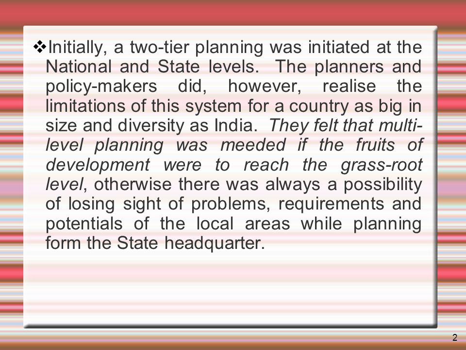 3 Under the Constitutional arrangements, various subjects were divided into three categories-Central, State and Concurrent.