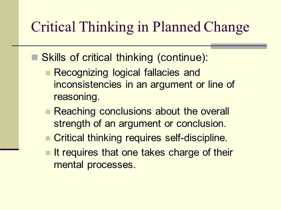 recognizing fallacies critical thinking