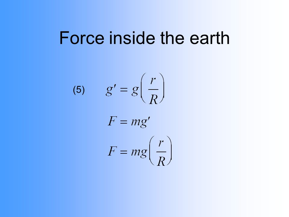 Force inside the earth (5)