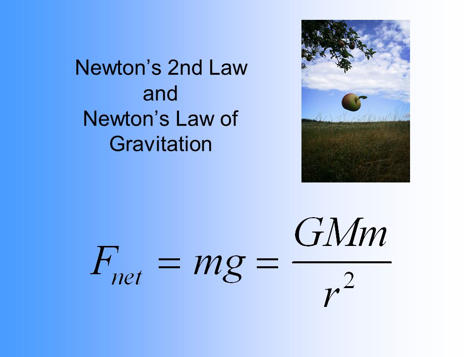 Newtons 2nd Law and Newtons Law of Gravitation