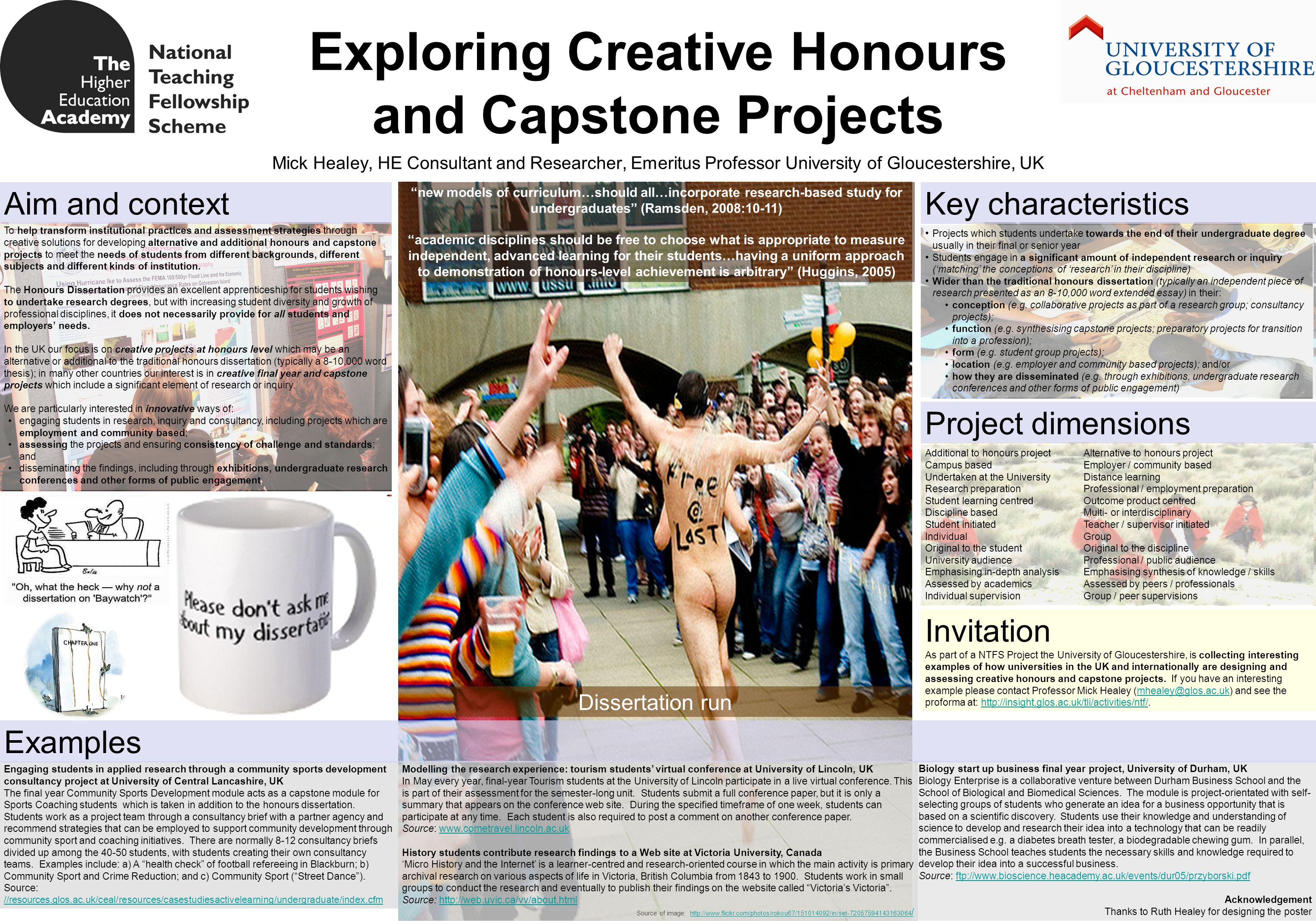To help transform institutional practices and assessment strategies through creative solutions for developing alternative and additional honours and c
