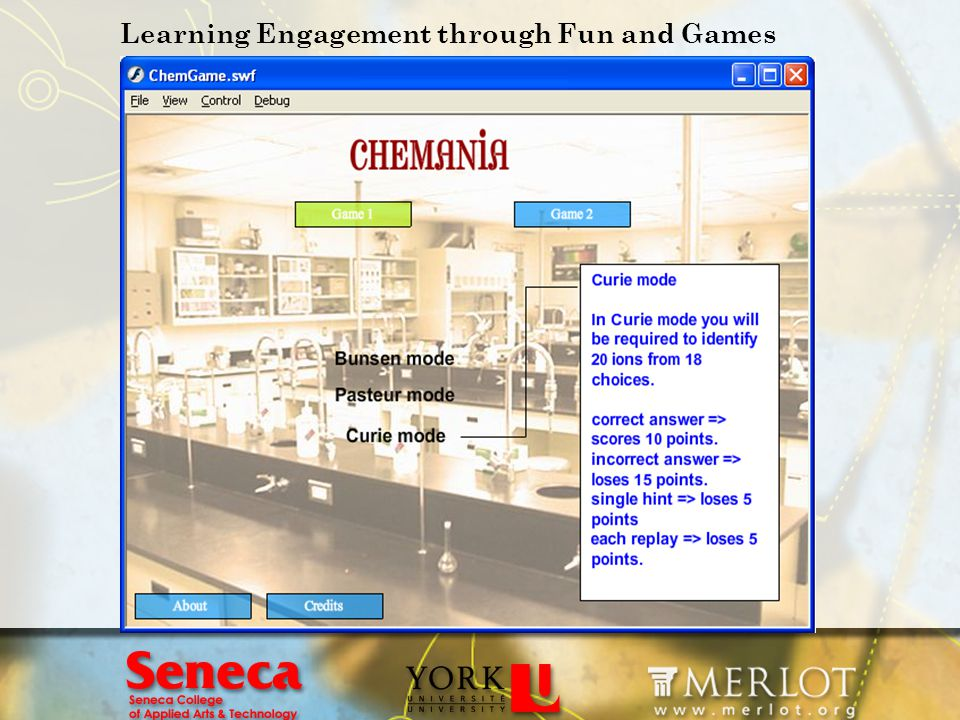 Learning Engagement through Fun and Games
