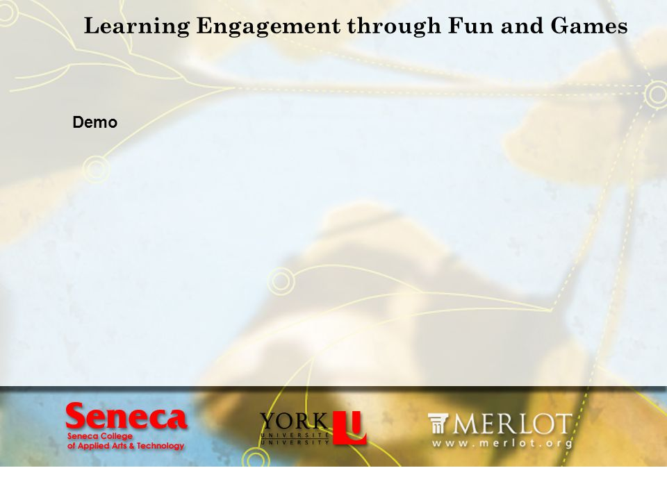 Learning Engagement through Fun and Games Demo