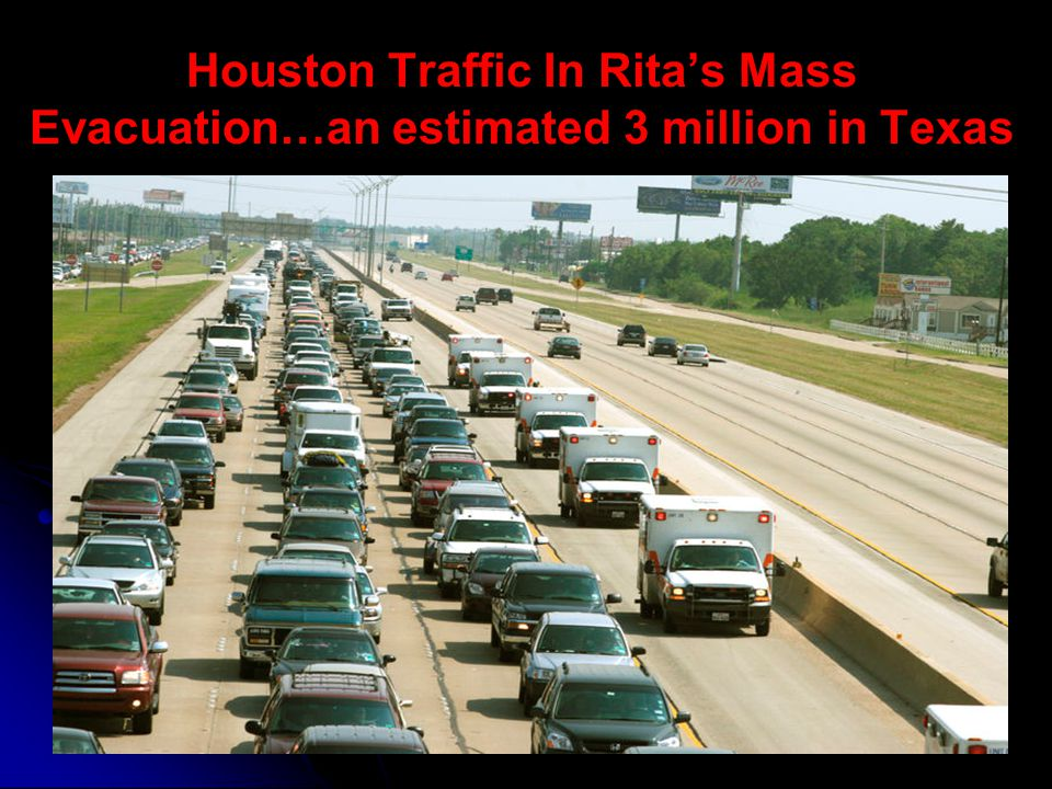 Houston Traffic In Ritas Mass Evacuation…an estimated 3 million in Texas