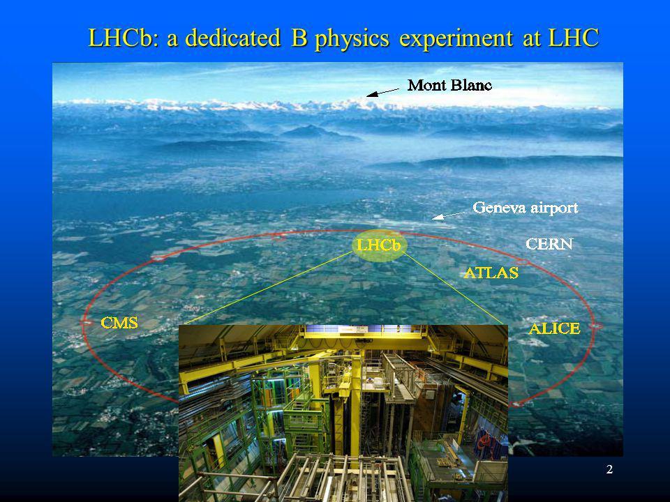 2 LHCb: a dedicated B physics experiment at LHC