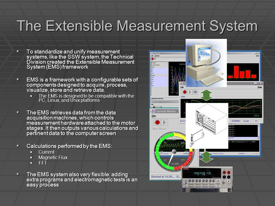 The Extensible Measurement System To standardize and unify measurement systems, like the SSW system, the Technical Division created the Extensible Mea