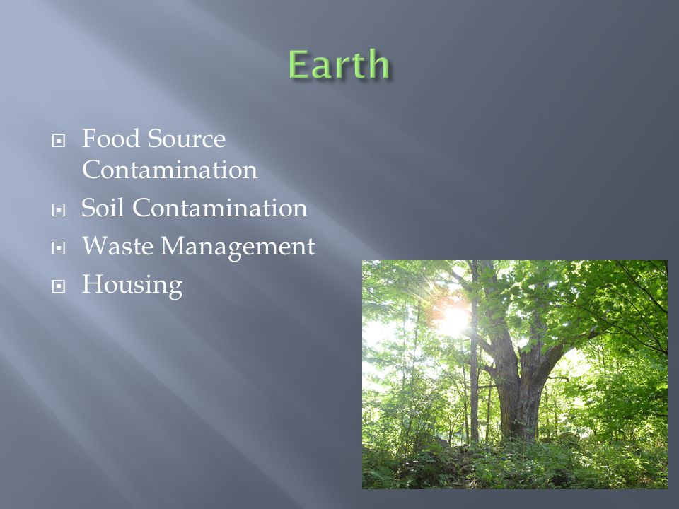 Food Source Contamination Soil Contamination Waste Management Housing