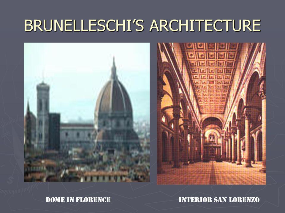 BRUNELLESCHIS ARCHITECTURE INTERIOR SAN LORENZODOME IN FLORENCE