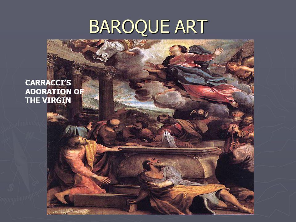 BAROQUE ART CARRACCIS ADORATION OF THE VIRGIN