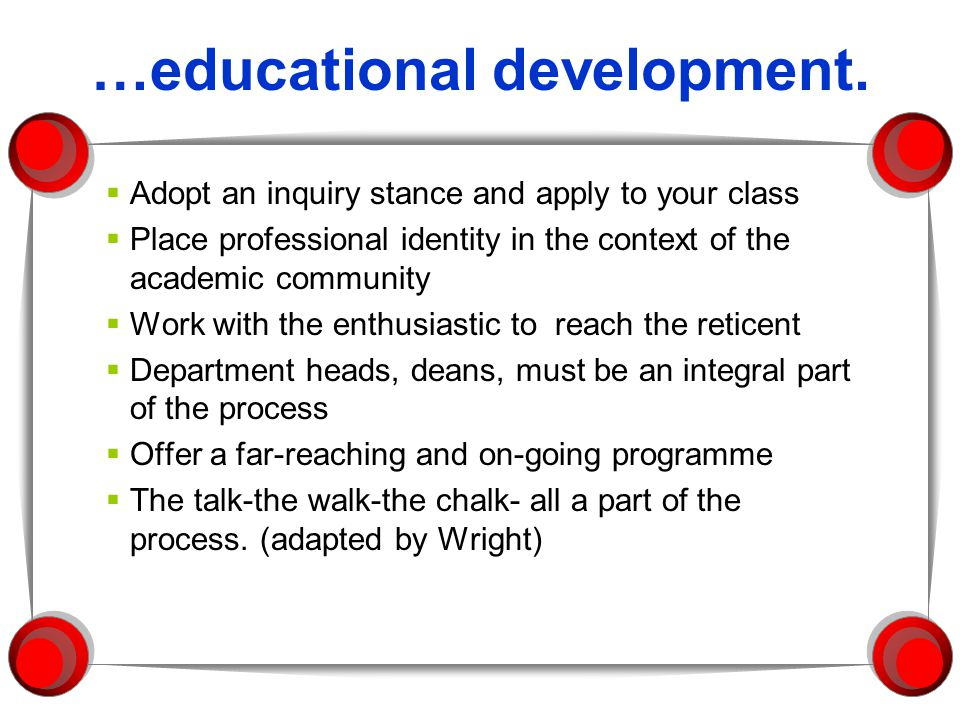 …educational development.
