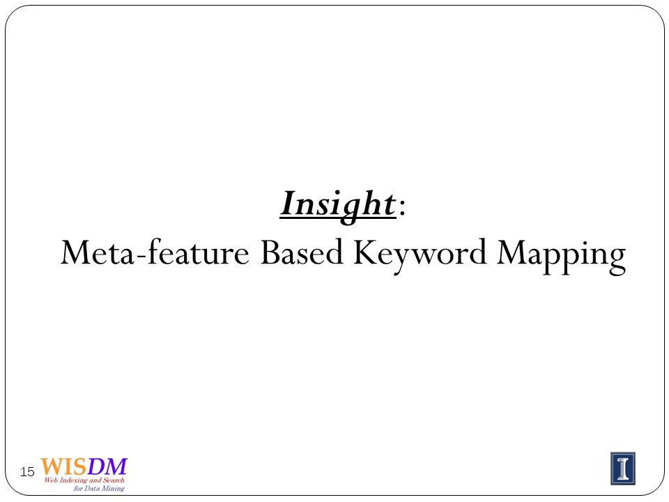 Insight: Meta-feature Based Keyword Mapping 15