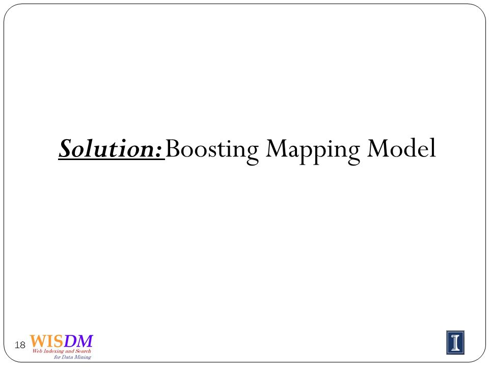 Solution: Boosting Mapping Model 18